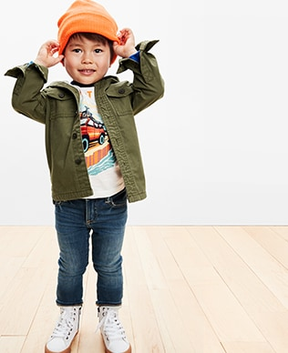 Toddler Boys Denim Shop, Skinny: Skinny through the hip and leg.