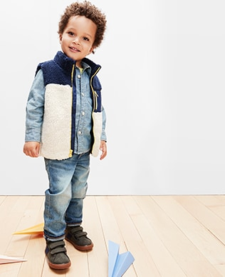 Toddler Boys Denim Shop, Slim: Slim fit through the hip and leg.