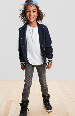 Boys Denim Shop, Skinny: Stretchy and skinny fit through the leg.