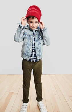 Boys Denim Shop, Slim: Slim fit through the hip and leg.