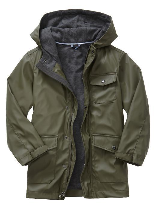 Gap Uniform Rain Slicker - Glen olive - Gap Canada