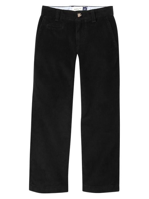 Gap Uniform Wide Wale Corduroy Pants - True black - Gap Canada