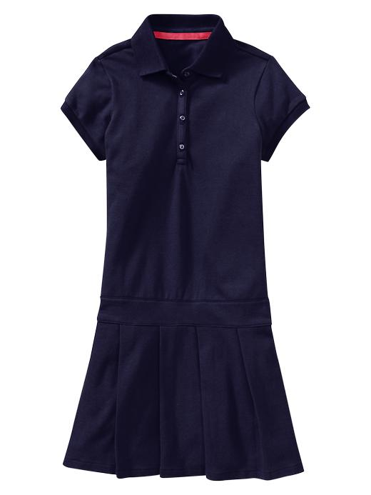 Gap Pleated Polo Dress - True navy - Gap Canada