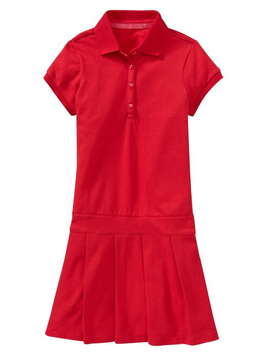 Gap Pleated Polo Dress - Pure red - Gap Canada
