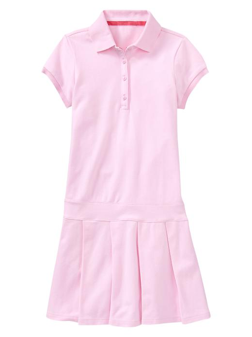 Gap Pleated Polo Dress - Pink bloom - Gap Canada