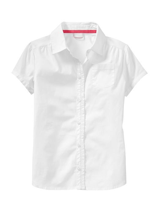 Gap Uniform Ruffled Shirt - White - Gap Canada