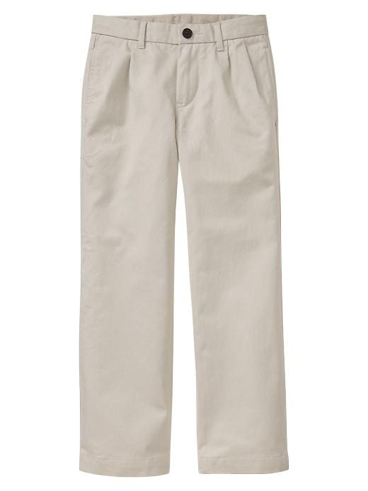 Gapshield Uniform Pleated Pants - Stone - Gap Canada