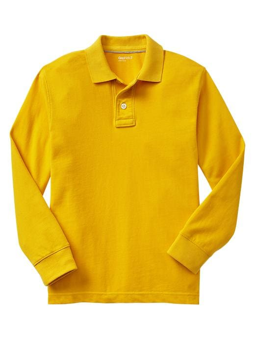 Gap Uniform Garment Dyed Piquã© Polo - Pale gold - Gap Canada