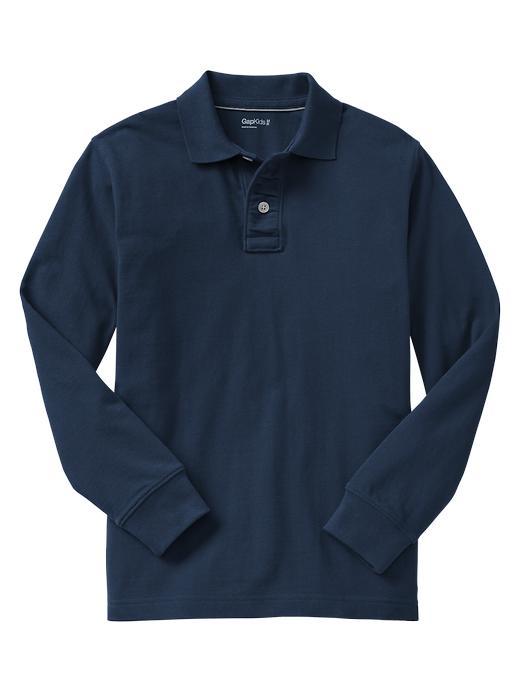 Gap Uniform Garment Dyed Piquã© Polo - Blue galaxy - Gap Canada