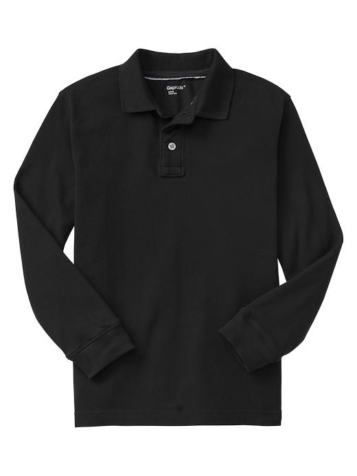 Gap Uniform Garment Dyed Piquã© Polo - True black knit - Gap Canada