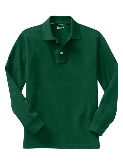 Gap Uniform Garment Dyed Piquã© Polo - Pine green - Gap Canada