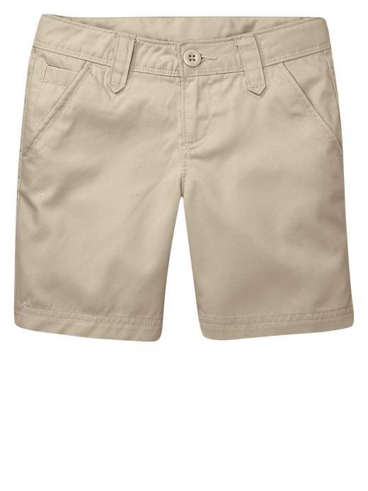 Gap Uniform Flat Front Shorts - Beige - Gap Canada