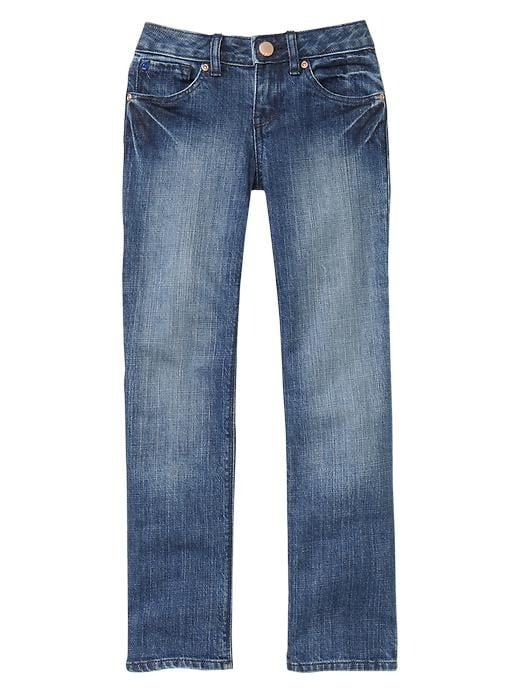 Gap Straight Jeans (Faded Light Medium Wash) - Denim