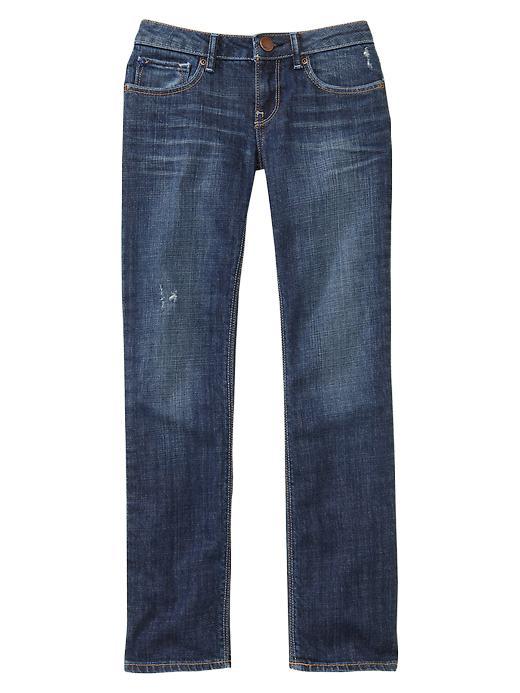 Gap Straight Jeans (Medium Wash) - Denim