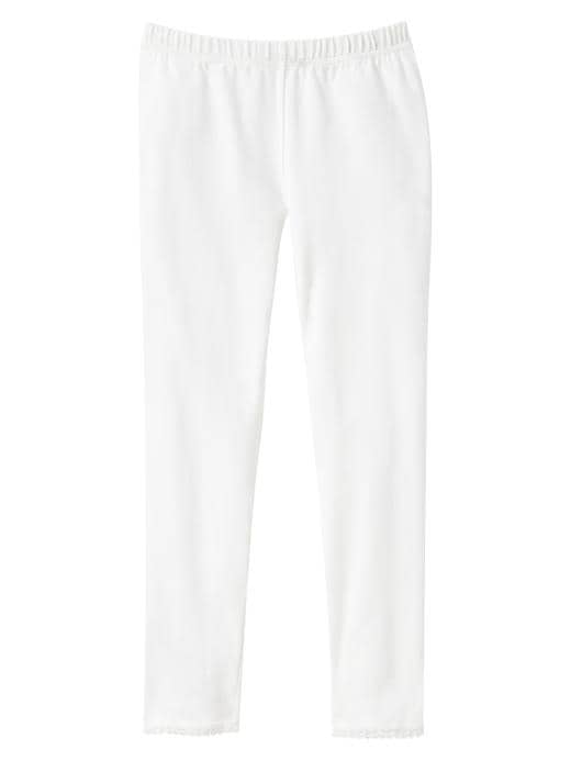 Gap Lace Trim Leggings - Off white - Gap Canada