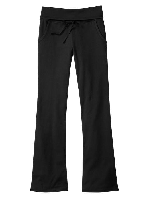 Gap Foldover Yoga Pants - Black - Gap Canada