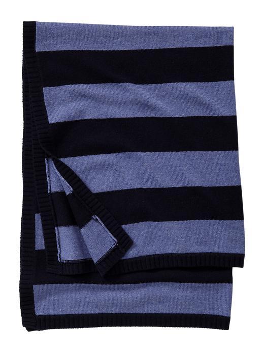 Gap Favorite Striped Cashmere Blanket - Blue galaxy - Gap Canada