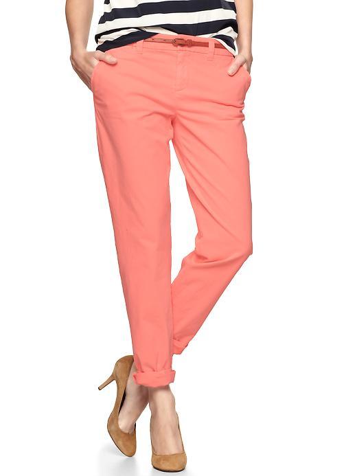 Gap Broken In Straight Khakis - Neon peach - Gap Canada