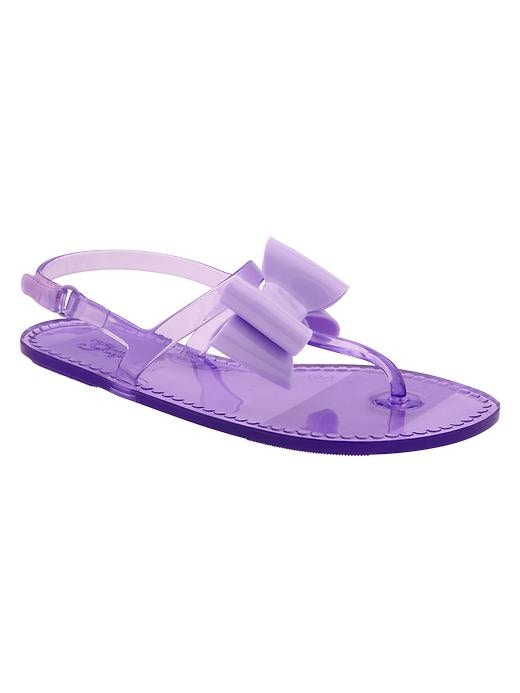 Gap T Strap Bow Jelly Sandals - Vapor