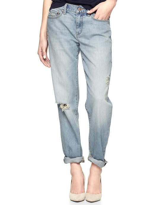 Gap 1969 Destructed Sexy Boyfriend Jeans - Destructed pacific bleach - Gap Canada