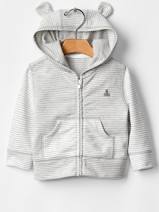 Gap Favorite Striped Bear Hoodie - Gray - Gap Canada