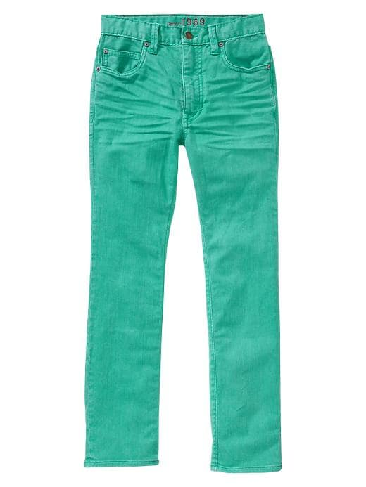 Gap Slouch Turquoise Skinny Jeans - Water garden green