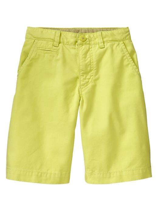 Gap Colored Flat Front Shorts - Locust - Gap Canada