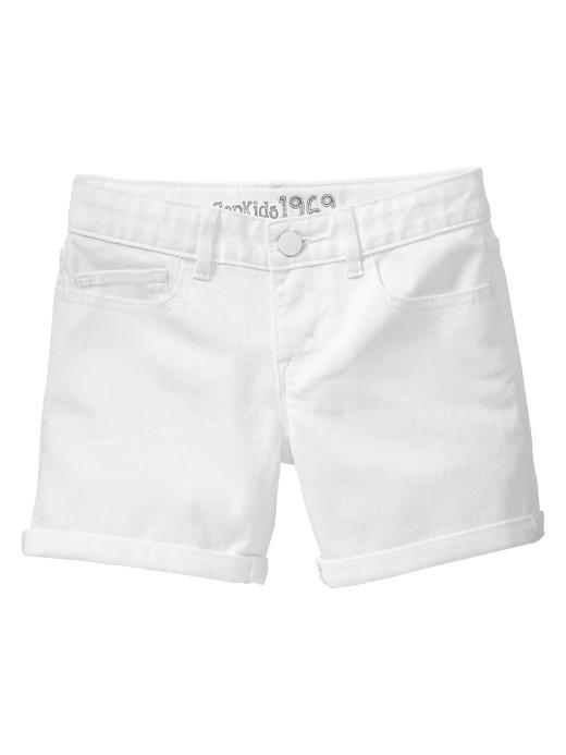 Gap White Midi Shorts - White denim