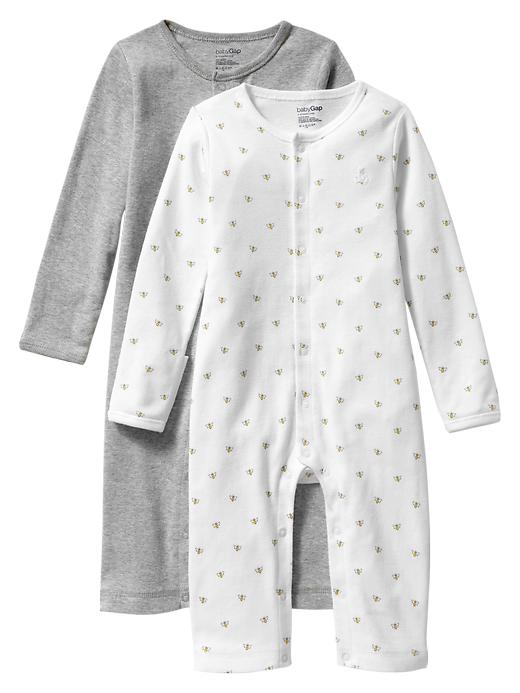 Gap Favorite Snap One Piece (2 Pack) - Gray