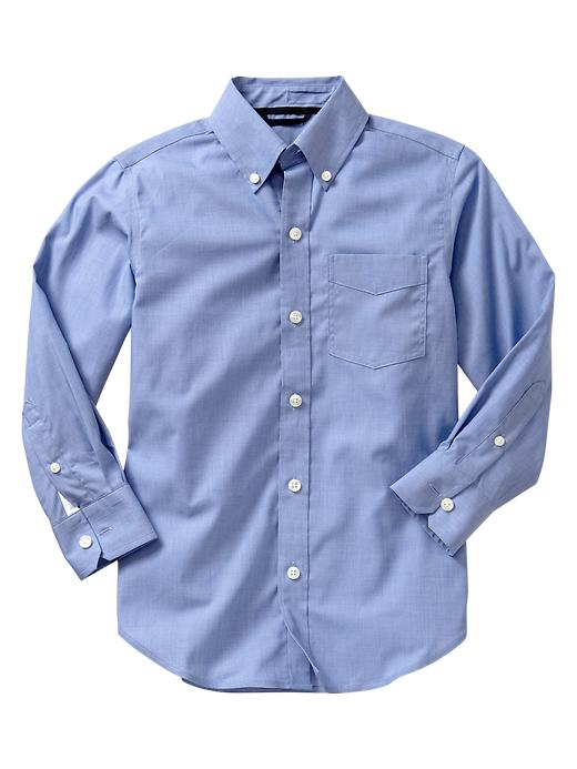 Gap Non Iron End On End Shirt - Blue end on end - Gap Canada