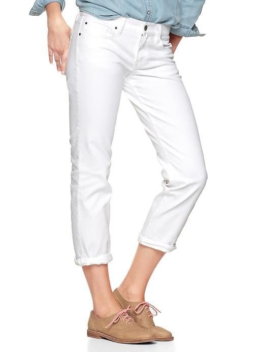 Gap 1969 Real Straight Skimmer Jeans - Dragon flies white - Gap Canada