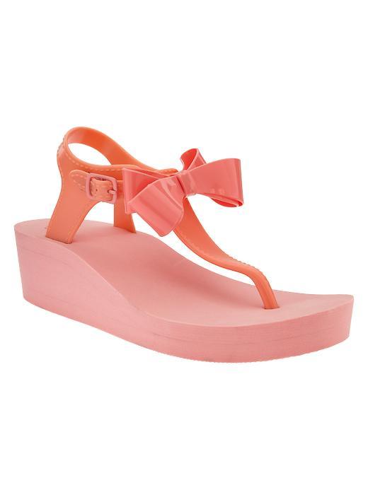 Gap Bow Wedge Sandals - Malibu peach - Gap Canada