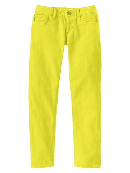 Gap Super Skinny Pastel Colored Jeans - Neon lemon yellow - Gap Canada