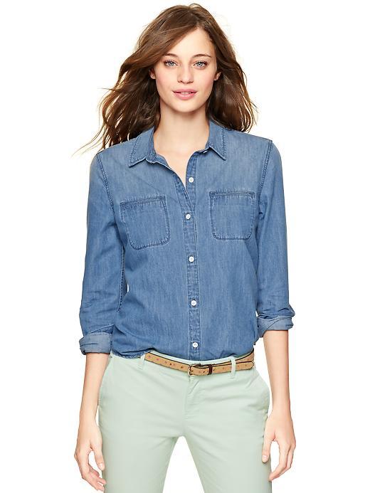 Gap Chambray Twin Pocket Shirt - San diego - Gap Canada