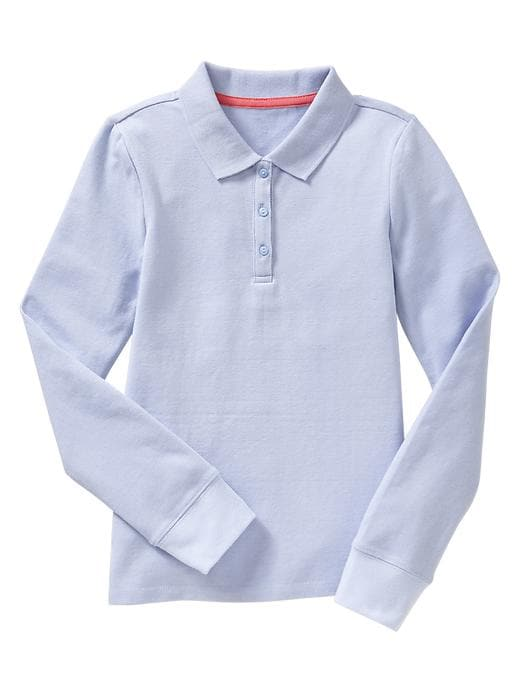 Gap Piquã© Long Sleeve Polo - Pure blue - Gap Canada