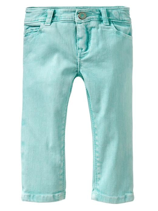 Gap Colored Skinny Capri Jeans - Aqua blue sky - Gap Canada