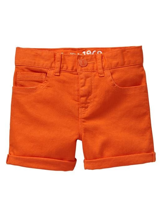 Gap Classic Colored Denim Shorts - Bright mandarin