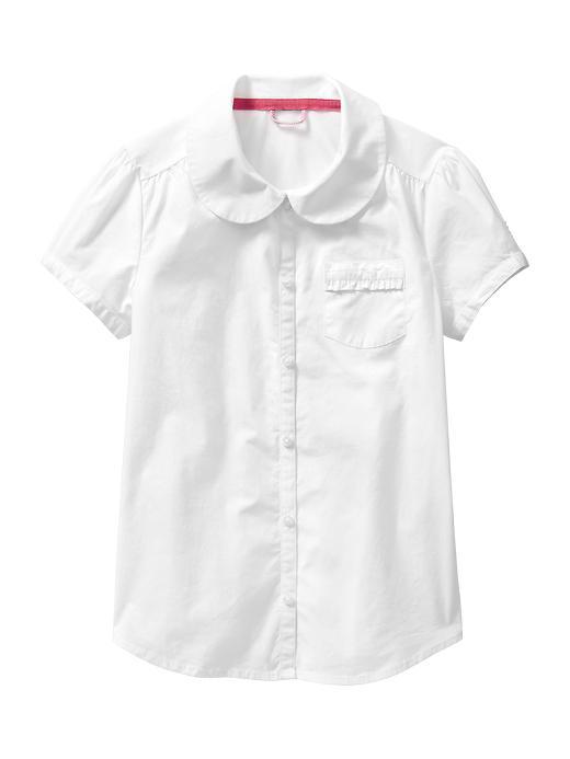 Gap Uniform Peter Pan Shirt - White - Gap Canada