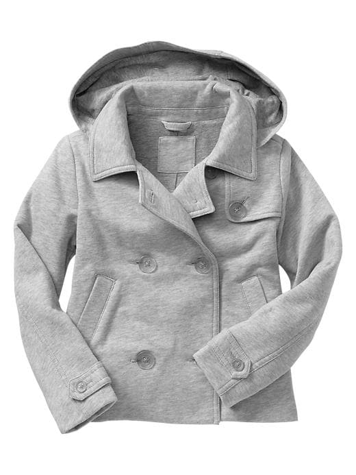 Gap Uniform Hooded Fleece Coat - B13 lt heather grey - Gap Canada