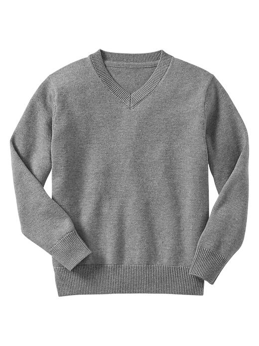 Gap Uniform V Neck Sweater - Heather gray - Gap Canada
