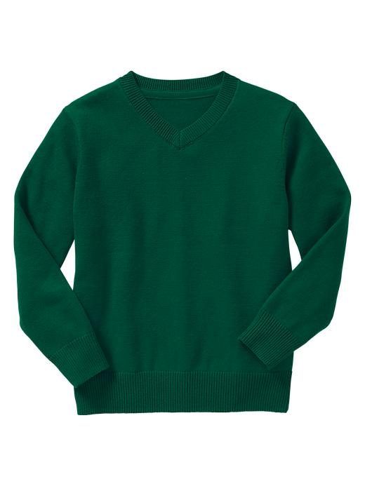Gap Uniform V Neck Sweater - Pine green - Gap Canada