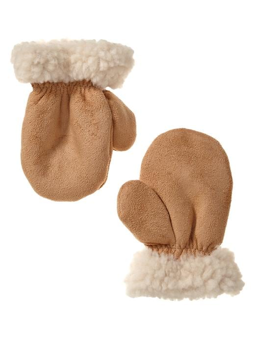 Gap Shearling Mittens - Deerfield - Gap Canada