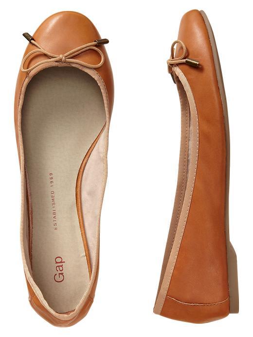 Gap Leather Ballet Flats - Cognac - Gap Canada