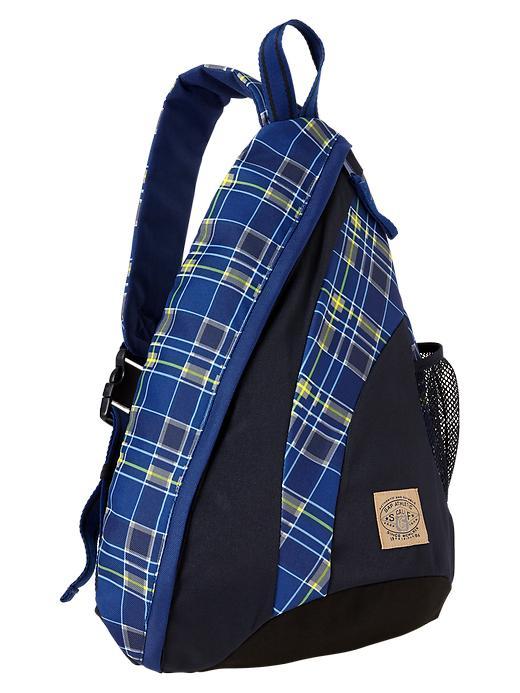 Gap Colorblock Sling Backpack - Blue plaid - Gap Canada