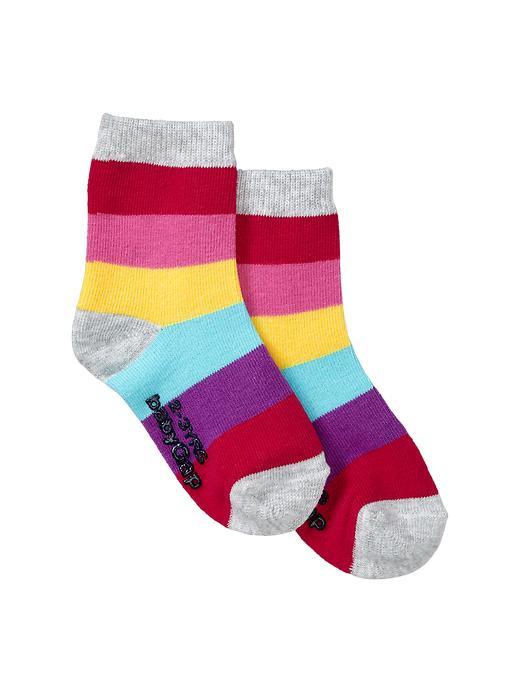 Gap Printed Contrast Socks - Rainbow stripe - Gap Canada