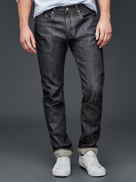 Gap 1969 Japanese Selvedge Slim Fit Jeans - Raw - Gap Canada