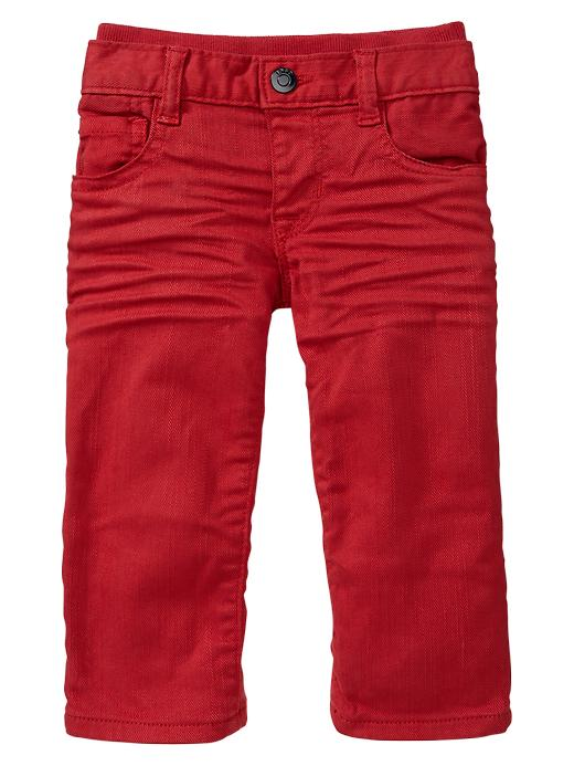 Gap Colored Knit Waist Straight Jeans - Red - Gap Canada