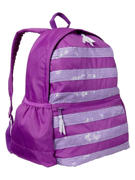Gap Senior Sequin Striped Backpack - Purple cts flower - Gap Canada