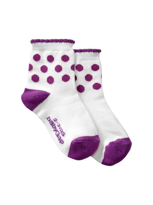 Gap Printed Contrast Socks - Purple dot - Gap Canada
