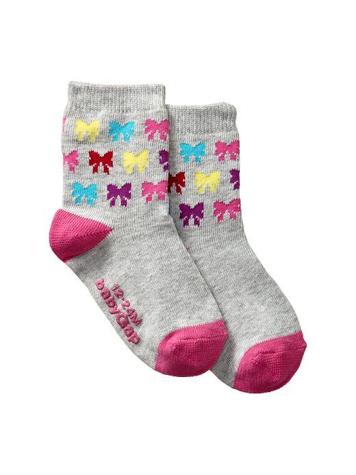 Gap Printed Contrast Socks - Bow - Gap Canada